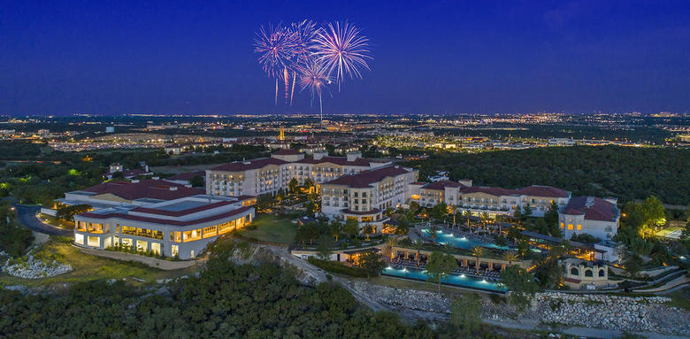 fireworks over la cantera resort in san antonio