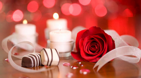 Red rose with special chocolates