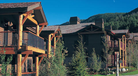 Exterior of mountain lodges