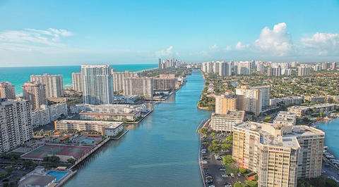 Aerial image of Hallandale Beach