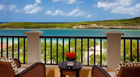 Suite balcony overlooking Curaçao coastal area